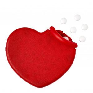 Cukorka szív alakú dobozban