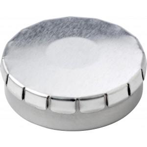 Fémdoboz cukorkával, ezüst